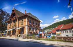 Part of main street of Triberg, German. Royalty Free Stock Photos