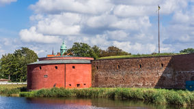 Part of Malmo Castle. ( Malmohus) in Malmo, Sweden. Old fortress founded in 1434 by King Eric of Pomerania, demolished and rebuilt in early 16th century, main royalty free stock images