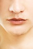 Part of man's face. Close-up shot of a part of man's face Royalty Free Stock Photos
