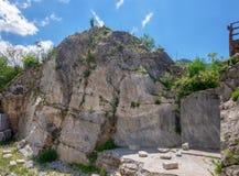 The ancient Roman quarry near Carrara, Italy. Royalty Free Stock Photo