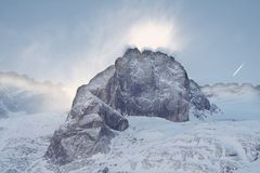 Part of Marmolada mountain stock image