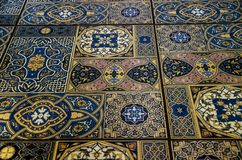 Part of the Maroccan tile stock image