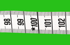 Part of measuring tape. Stock Image