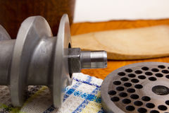 Part of meat mincer Royalty Free Stock Photography