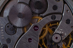 Part of the mechanism of a pocket watch Royalty Free Stock Photography