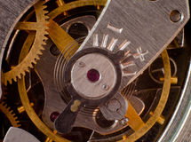 Part of the mechanism of a pocket watch Stock Image