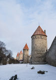 Part of the medieval city wall in Tallinn, Estonia Royalty Free Stock Image