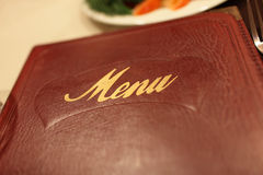 Part of menu book Stock Images