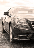 Part of Mercedes cls stock images