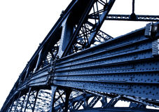 Part of metal bridge Stock Photos