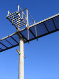 Part of the metal structure on a blue sky Stock Images
