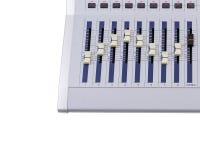 Part of a mettalic music mixer Stock Photos