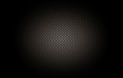 Part of microphone and loudspeaker. Black and gold curve metallic mesh background texture Royalty Free Stock Photos