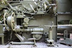 Part of Military cannon Stock Photos