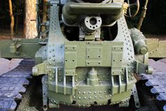 Part of Military cannon Royalty Free Stock Photo