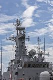 A part of military navy ship. Stock Photo