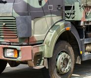 Part of a military truck vehicle. Outdoor stock photography
