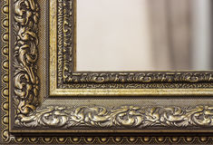 Part of the mirror frame Royalty Free Stock Image