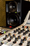 Part of a mixing panel Stock Images