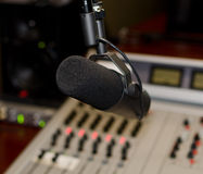 Part of a mixing panel. In a radio studio Stock Image