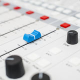 Part of a mixing panel Royalty Free Stock Image