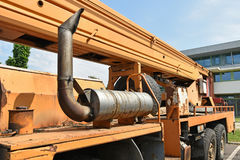 Part of a mobile crane vehicle Stock Image