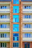 Part of a modern apartment building Royalty Free Stock Image