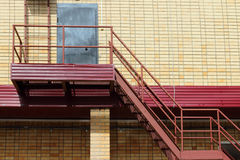 Part of modern building - yellow brick wall Royalty Free Stock Photos