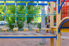 Part of modern colorful children playground Stock Images