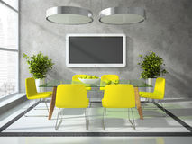 Part of the modern drawing room. 3D Royalty Free Stock Photos