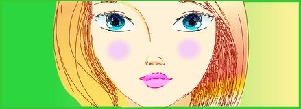 The part of modern girl portrait Stock Image