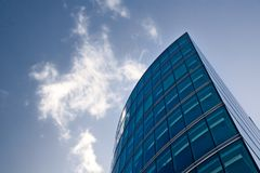 Part of modern glass and steel building royalty free stock photos