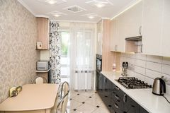 Part of modern kitchen interior.  Royalty Free Stock Photos