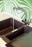 Part of modern Kitchen interior with Sink. And falling water jet stock images