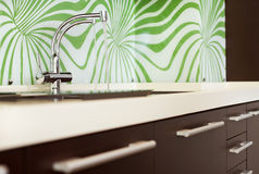 Part of modern Kitchen interior with Sink Royalty Free Stock Image