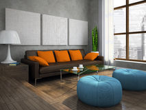 Part of the modern living-room Royalty Free Stock Photography