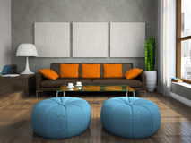 Part of the modern living-room Stock Photo