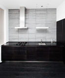 Part of modern minimalism style kitchen. Interior in monochrome tones Stock Photo