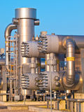 Part of a modern natural gas processing plant Stock Images