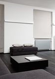 Part of modern sitting room interior in black Royalty Free Stock Image