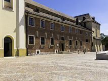Buildings of abbey. Part of the monastery buildings of the abbey of the cistercian fathers in krakow Stock Photos