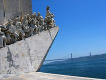 Part of the monument to the Discoveries to Lisbon Portugal. royalty free stock photography