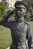"""Part of the monument to the heroes of the film Officers. Part of the monument to the heroes of the film """"Officers"""". A film about the second world war. The image Stock Photo"""