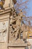 Part of the monument to John of Nepomuk near Sedlec Ossuary Stock Image