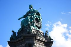 Part of the monument to Maria Theresa stock photography