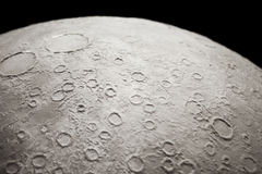 Part of moon texture Royalty Free Stock Photo