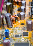 Part of motherboard Royalty Free Stock Photo