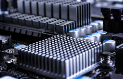 Part of motherboard Stock Photography