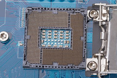 Part of the motherboard connector for the CPU Royalty Free Stock Photography