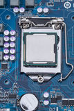 Part of the motherboard with the processor Royalty Free Stock Photos